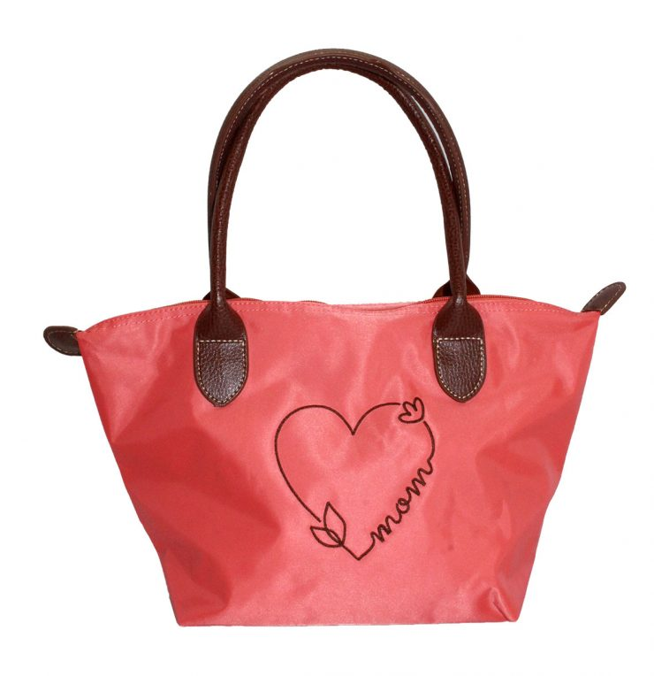 A photo of the Mom Tote In Coral product