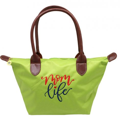 A photo of the Mom Life Tote In Green product