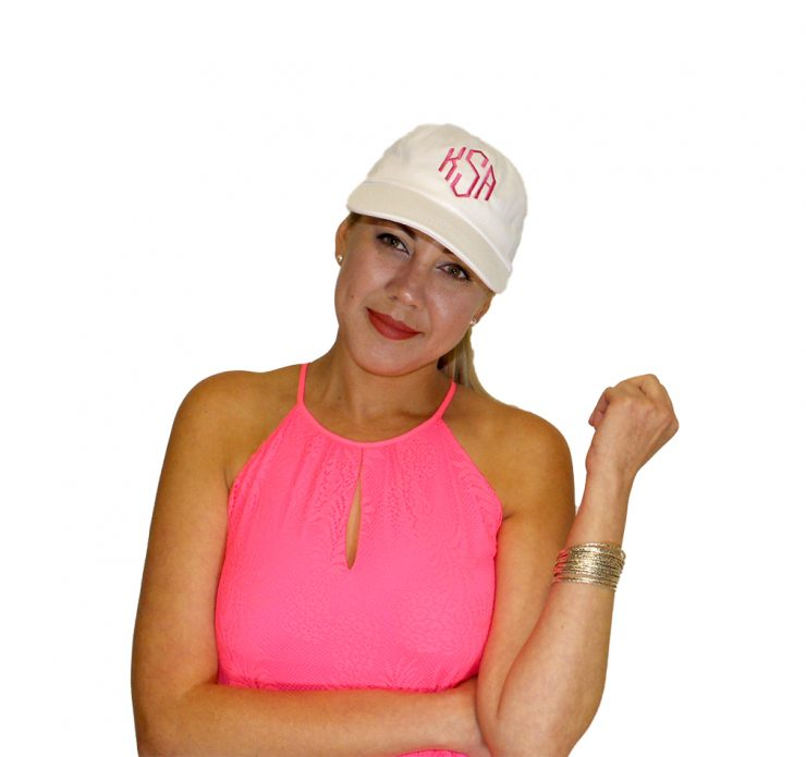A photo of the Classic Baseball Caps - Monogram Me! product