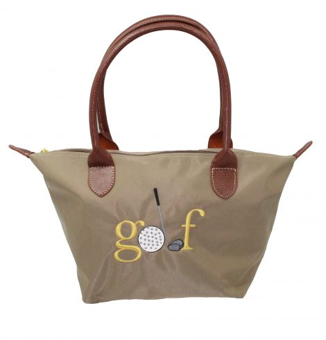 A photo of the Golf Nylon Tote In Taupe product