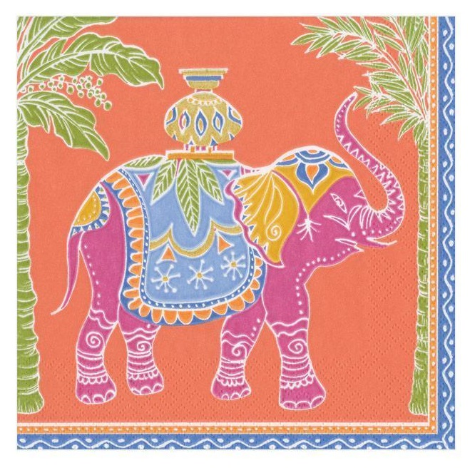 A photo of the Royal Elephant Cocktail Napkins product