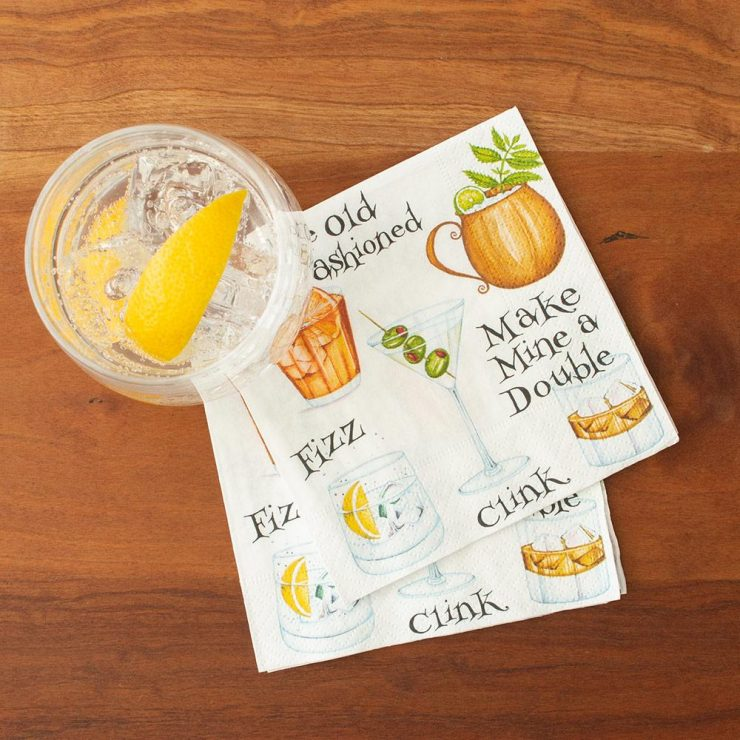 A photo of the Cocktail Hour Napkins product