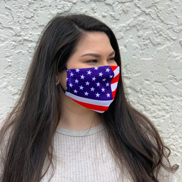 A photo of the American Flag Face Mask product