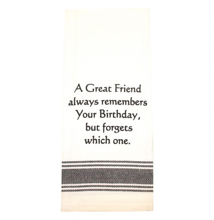 A photo of the Best Friend Birthday Towel product