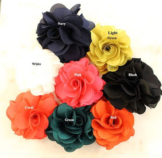 A photo of the Flower Hair Clips/Pins product