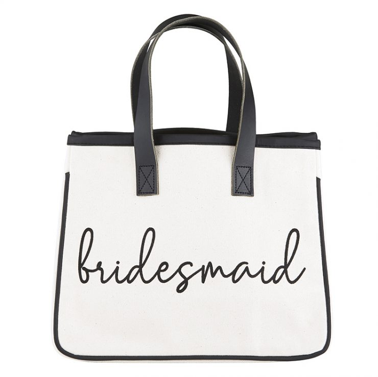 A photo of the Mini Canvas Bridesmaid Tote product