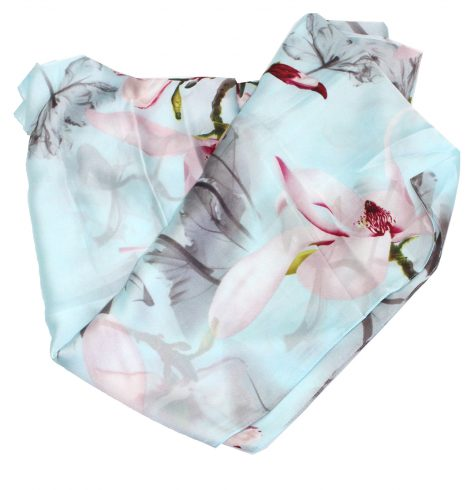 A photo of the Bright Flowers Scarf product