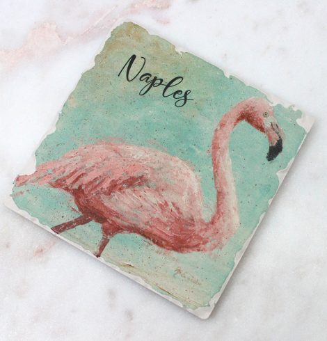 A photo of the Flamingo Naples Coaster product