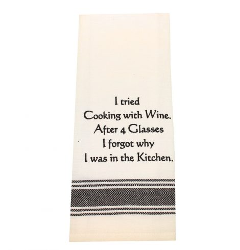 A photo of the Cooking With Wine Towel product