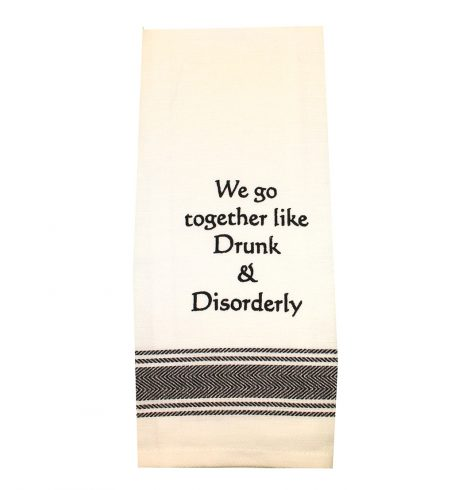 A photo of the Drunk and Disorderly Towel product