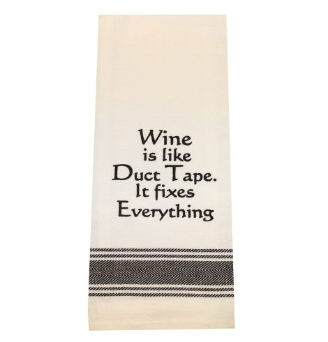 A photo of the Wine is Like Duct Tape Towel product