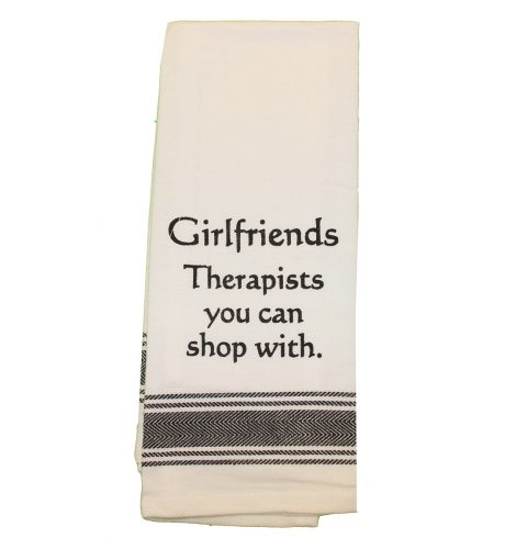 A photo of the Girlfriends are Therapists Towel product