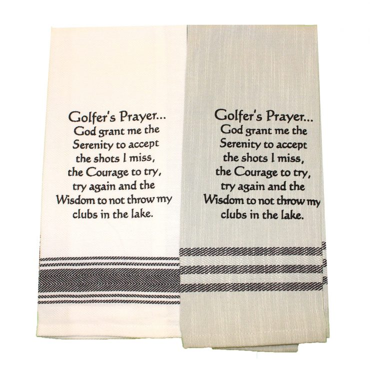 A photo of the Golfer's Prayer Towel product