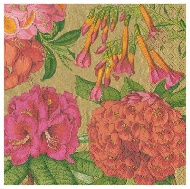 A photo of the Jefferson's Garden Study Napkins In Gold product