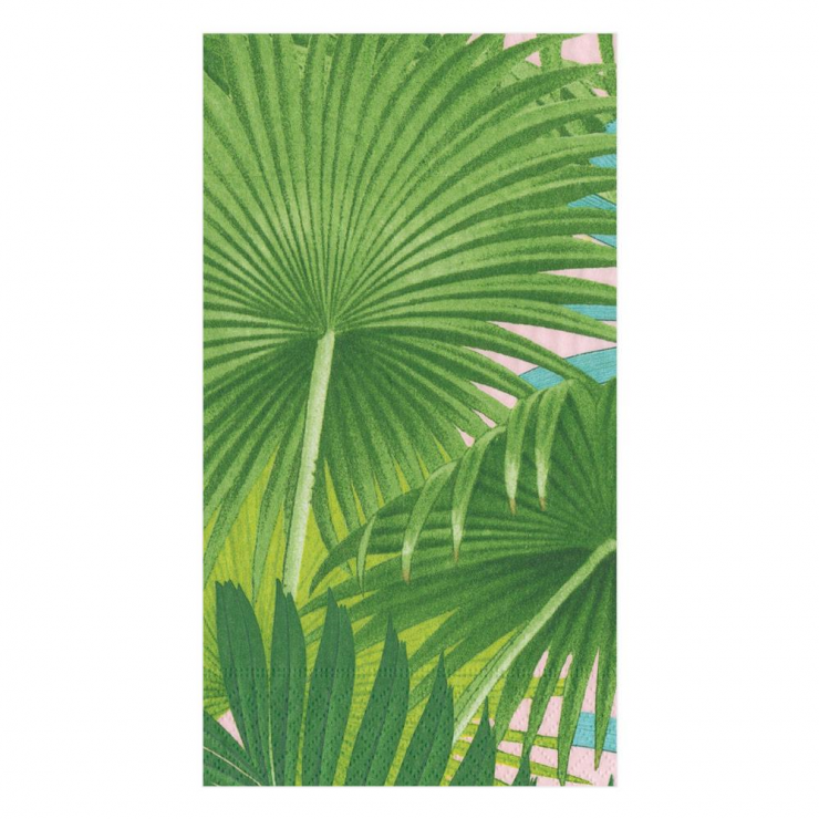 A photo of the Palm Fronds In Sunset Napkins product