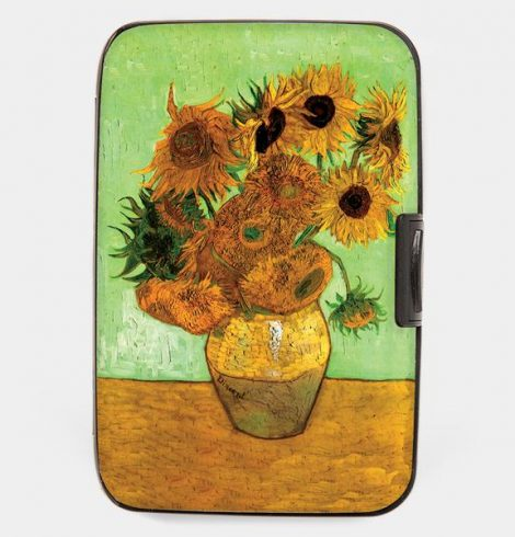 A photo of the Armored Wallet in Sunflowers product