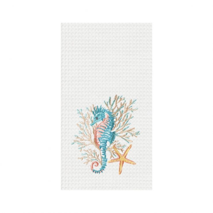 A photo of the Seahorse & Coral Towel product