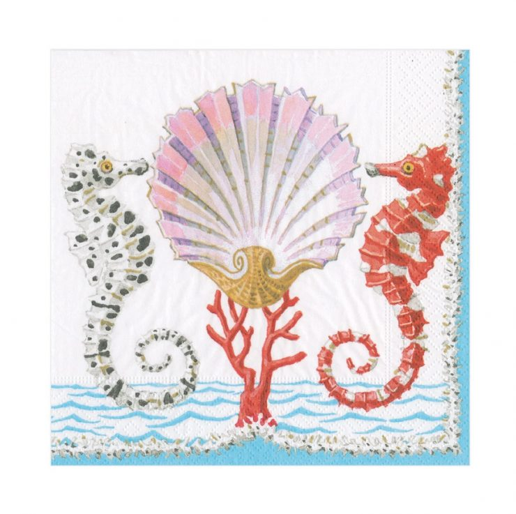 A photo of the Seahorse and Shell Napkins product