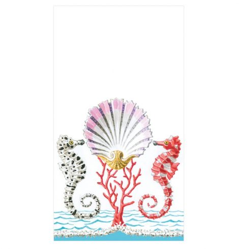 A photo of the Seahorse and Shell Guest Napkins product