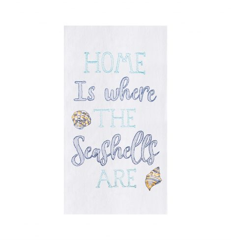 A photo of the Home Is Where The Seashells Are Towel product