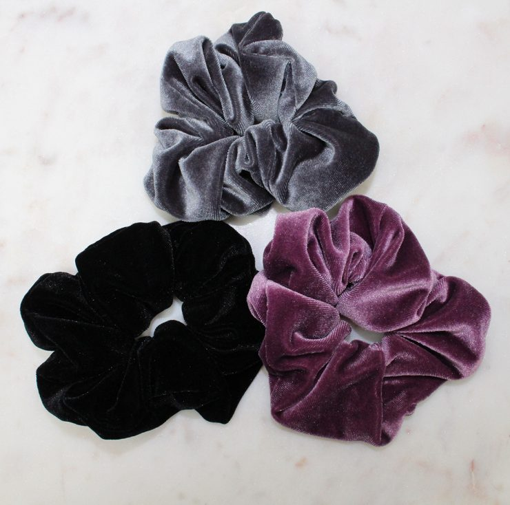 A photo of the Large Velvet Hair Scrunchie product