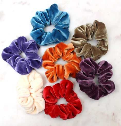 A photo of the Small Velvet Scrunchie product