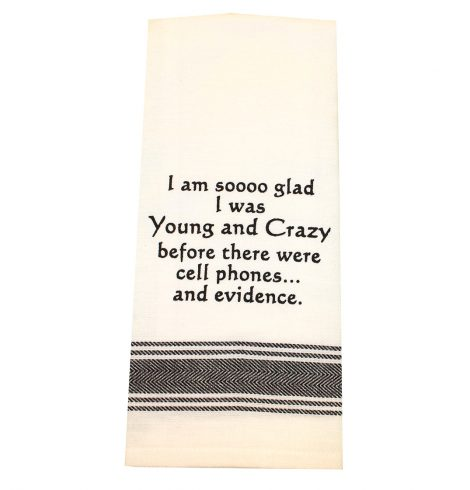 A photo of the Young and Crazy Towel product