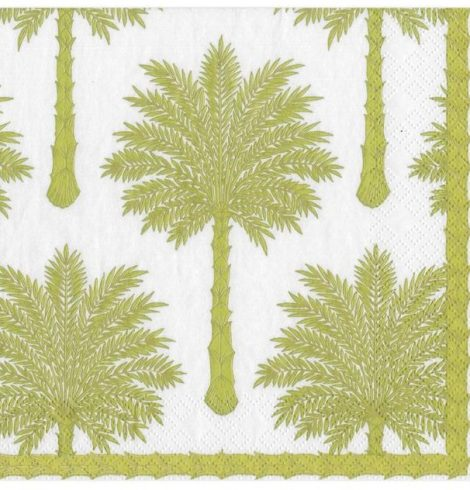A photo of the Grand Palms Cocktail Napkins In Green product