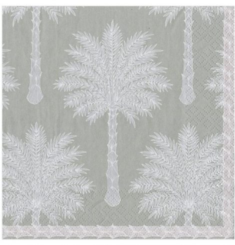 A photo of the Grand Palms Cocktail Napkins In Grey product
