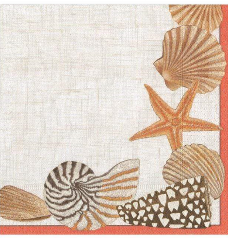 A photo of the Seaside Cocktail Napkins product