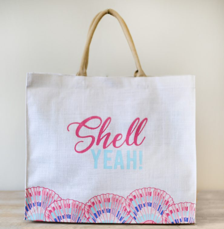 A photo of the Shell Yeah Carryall Tote product