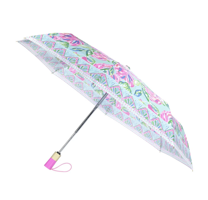 A photo of the Lilly Pulitzer Umbrella In Totally Blossom product