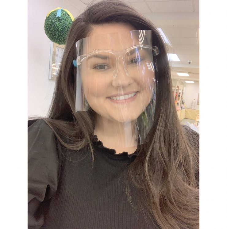 A photo of the Isolation Face Shield Glasses product