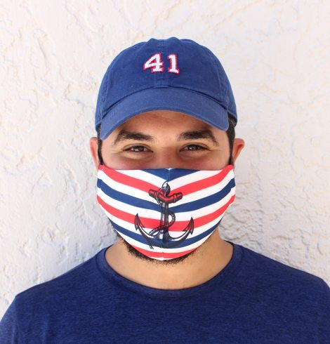 A photo of the Anchor & Stripes Face Mask product