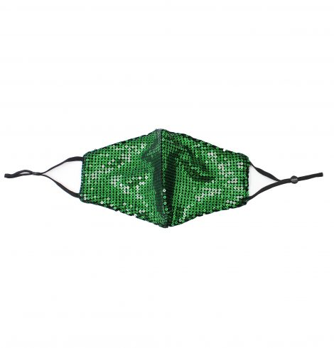 A photo of the Sequin Face Mask In Green product