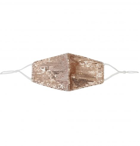 A photo of the Sequin Face Mask In Rose Gold product