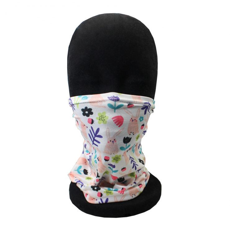 A photo of the Children's Neck Gaiter In Spring Fun product
