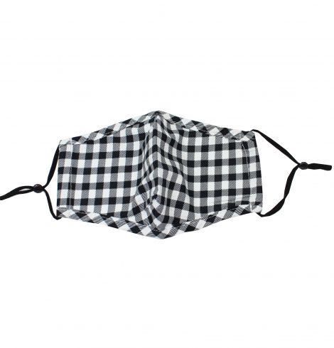 A photo of the Black & White Buffalo Check Mask product