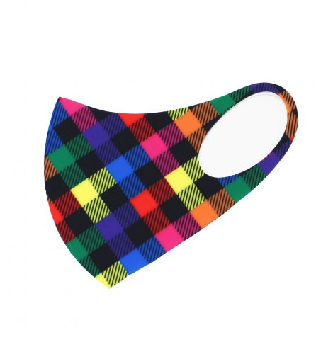 A photo of the Colorful Checkered Face Mask product