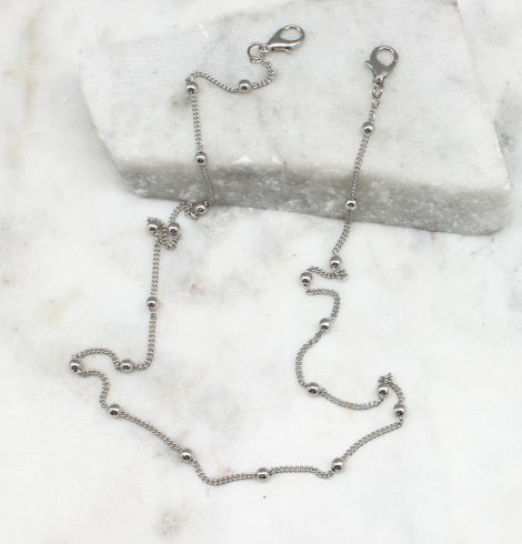 A photo of the Silver Beaded Mask Chain product