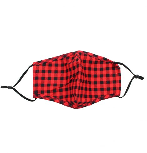 A photo of the Black & Red Buffalo Check Mask product