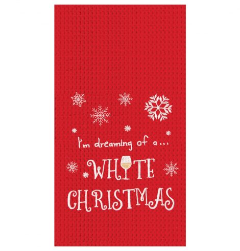 A photo of the White Christmas Kitchen Towel product