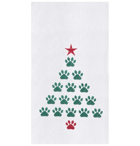 A photo of the Christmas Tree Paws Towel product