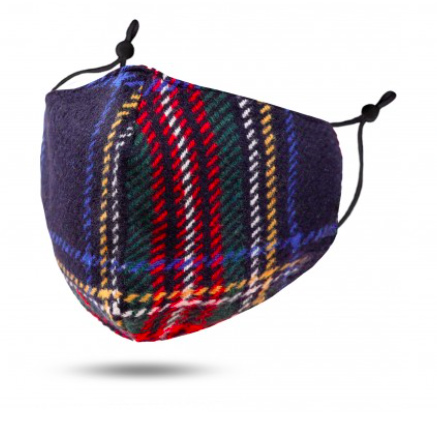 A photo of the Black Tartan Face Mask product