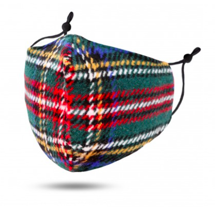 A photo of the Green Tartan Face Mask product