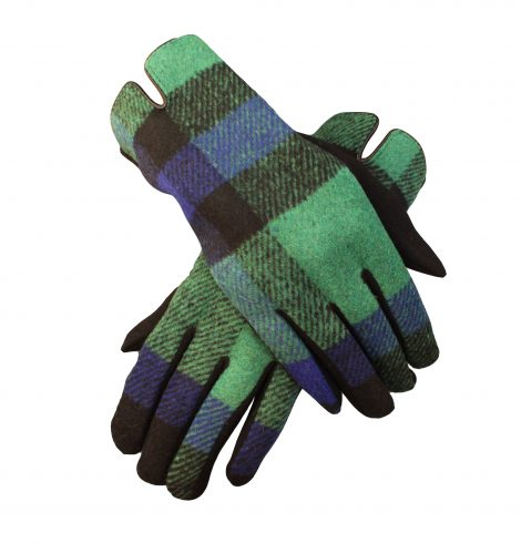 A photo of the Green & Blue Plaid Gloves product