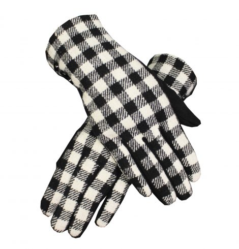 A photo of the Black & White Plaid Gloves product