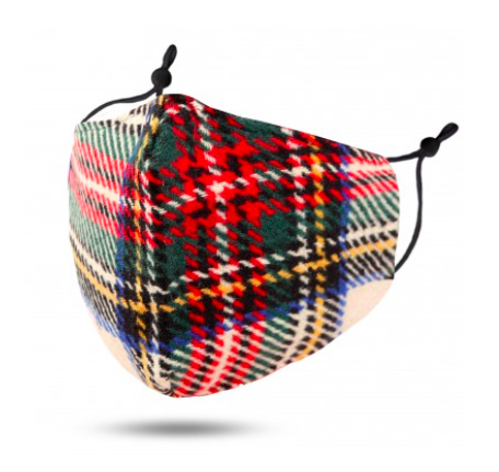 A photo of the Khaki Tartan Mask product