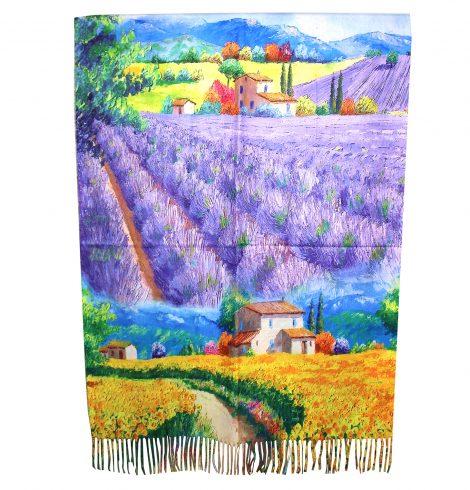 A photo of the Lavender Field Reversible Scarf product