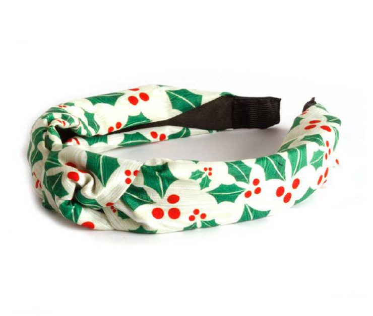 A photo of the Christmas Holly Headband In White product